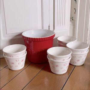 Big Popcorn bowl and individual serving bowls